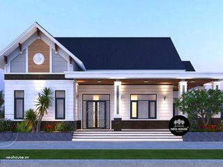 1 mẫu thiết kế nhà biệt thự mini 1 tầng đẹp mái thái 2021 NEOHouse