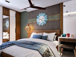Monnaie Interiors Pvt Ltd ChambreAccessoires & décorations Bois Effet bois