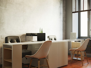 Студия дизайна ROMANIUK DESIGN Industriële studeerkamer