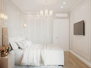 Студия дизайна ROMANIUK DESIGN Minimalistische slaapkamers