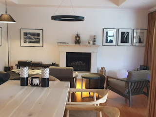 Deborah Garth Interior Design International (Pty)Ltd 客廳沙發與扶手椅 木頭 White