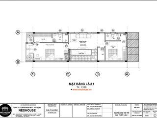 Tổng hợp những mẫu thiết kế nhà ống 2 tầng 5x20m có bản vẽ chi tiết NEOHouse