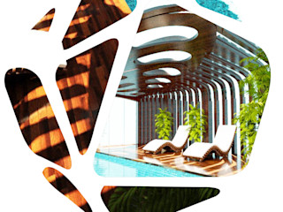 Parametric Pool THINK NATURE Debbie Flevotomou Architects Ltd. Eclectic style pool