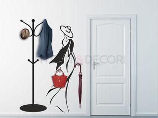 Appendiabiti adesivi da parete INTERNI & DECORI Ingresso, Corridoio & ScaleAccessori & Decorazioni PVC Variopinto