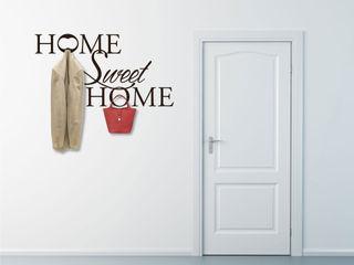Appendiabiti adesivi da parete INTERNI & DECORI Ingresso, Corridoio & ScaleAccessori & Decorazioni PVC Nero