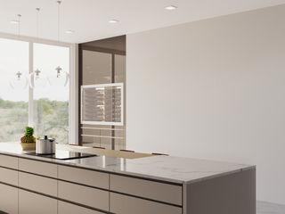 Kitchen Rendering Services Pennsylvania JMSD Consultant - 3D Architectural Visualization Studio KitchenLighting Stone Grey