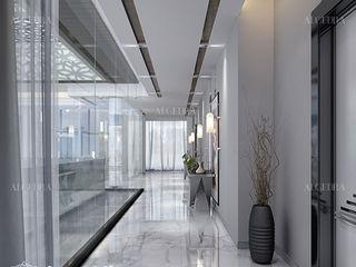 Algedra Interior Design 現代風玄關、走廊與階梯