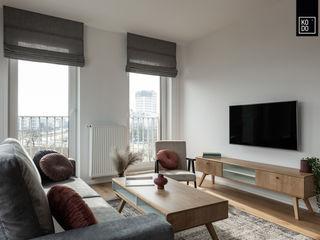 KODO projekty i realizacje wnętrz Salas de estilo minimalista