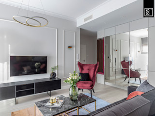 KODO projekty i realizacje wnętrz Salas de estilo moderno