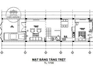 Tuyển chọn những mẫu thiết kế nhà ống đẹp 3 tầng 5x20m kèm bản vẽ chi tiết NEOHouse