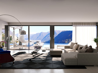 mcp-render Salas de estar modernas Bege
