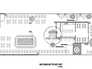 Phương án thiết kế quán cà phê sân vườn đẹp 14x45m tại Bình Thuận NEOHouse