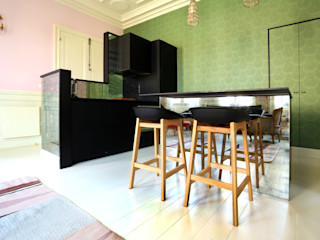 Villa en Biarritz Bitarte arquitectura & interiorismo Cocinas integrales Vidrio Verde