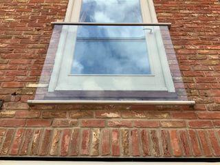 Portia Juliet Balcony in Coventry Origin Architectural Balkon Szkło Przeźroczysty