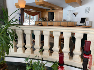 Hall d'albergo - Lermoos Arte 2000 Ingresso, Corridoio & Scale in stile classico Marmo Bianco