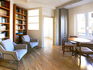 de Biteri. Reforma de vivienda en Donostia Bitarte arquitectura & interiorismo Salones de estilo moderno Madera Multicolor