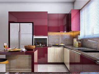 Monnaie Interiors Pvt Ltd CuisineUstensiles de cuisine Bois Effet bois
