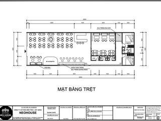 Thiết kế và thi công quán cafe sân vườn hiện đại 8x26m tại Bình Phước NEOHouse