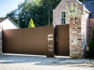 Nordzaun Garden Fencing & walls Aluminium/Zinc Brown