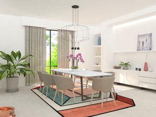 Studio Zay Architecture & Design Modern dining room Marble White