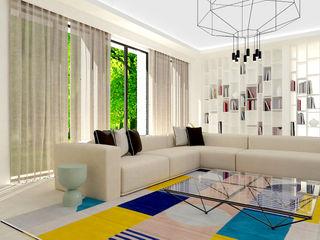 Studio Zay Architecture & Design Modern living room Concrete Beige