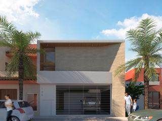 FLORES ROJAS Arquitectura Casas de estilo moderno
