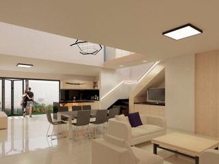 FLORES ROJAS Arquitectura Salones de estilo moderno