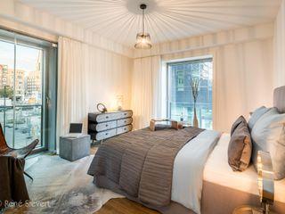 Luxus-Appartementwohnung im Hamburger Hafenbereich wohnhelden Home Staging Ausgefallene Schlafzimmer