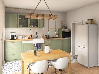 Heinz von Heiden Stadtvilla B90 Dieckmann Immobilien Küchenzeile Grün