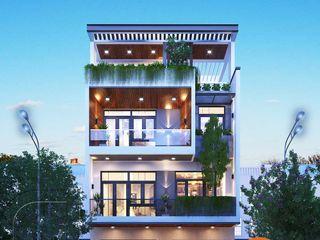 Mẫu thiết kế nhà phố hiện đại mặt tiền rộng 8m 3 tầng 1 tum tại Đà Nẵng NEOHouse