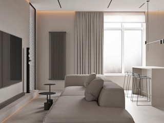 YOUSUPOVA Salas de estilo minimalista