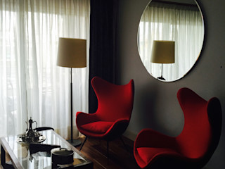 Estudio RYD, S.L. Living room Copper/Bronze/Brass Grey