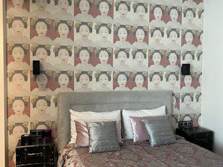 Estudio RYD, S.L. Classic style bedroom Wood Pink