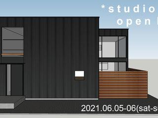 *studio LOOP 建築設計事務所 Chalets & maisons en bois Métal Noir