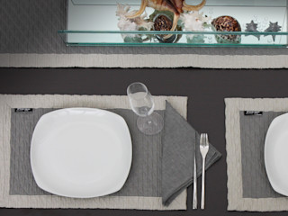 POEMO DESIGN Sala de jantarAcessórios e decoração Algodão Cinza