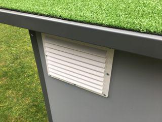 Cucce di design da esterno riscaldate e raffreddate Pet House Design® Casetta da giardino Legno Grigio
