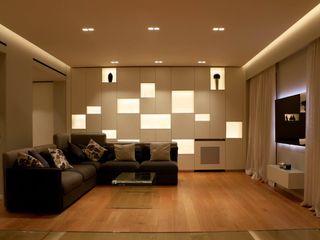 gk architetti (Carlo Andrea Gorelli+Keiko Kondo) Minimalistische Wohnzimmer