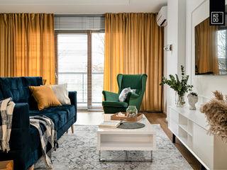 KODO projekty i realizacje wnętrz Salas de estilo ecléctico