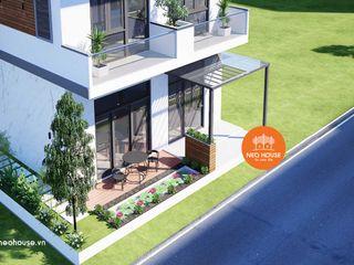 Mẫu thiết kế biệt thự phố 2 tầng hiện đại đẹp mặt tiền 7m tại Sóc Trăng NEOHouse