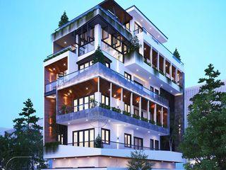 Mẫu thiết kế thi công nhà phố chiều rộng 7m hiện đại 5 tầng 10 phòng ngủ tại Đà Nẵng NEOHouse