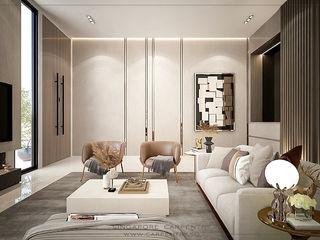 Singapore Carpentry Interior Design Pte Ltd Modern living room Marble White