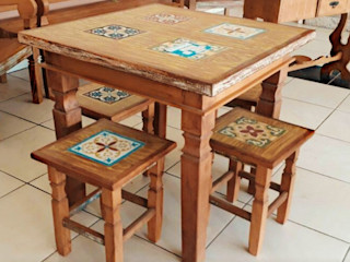 Mesas de Jantar Barrocarte Sala de jantarMesas Madeira maciça Efeito de madeira
