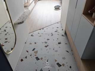 森叄設計 Scandinavian corridor, hallway & stairs