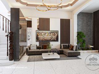 Thiết kế thi công nội thất nhà phố 5m 3 tầng 1 tum hiện đại tại HCM NEOHouse
