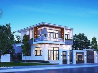 Mẫu thiết kế nhà phố mặt tiền 8m 2 tầng đẹp NEOHouse