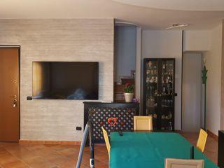 Decorativo Pietra Zen Roma, zona Axa Casalpalocco Ma.Ni. Ristrutturazioni Soggiorno moderno