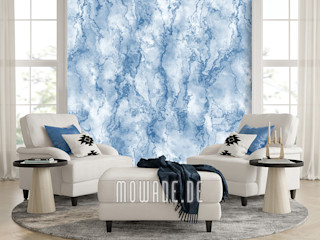 Tapeten in Steinoptik Mowade Wände & BodenWand- und Bodenbeläge Blau