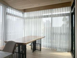 朝氣滿分的居家工作室|布紗簾・百葉簾 MSBT 幔室布緹 書房/辦公室 木頭 Wood effect