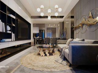 Thiết kế căn hộ 2 phòng ngủ đẹp 70m2 Topaz Elite tại Quận 8 HCM NEOHouse