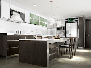 AOG Built-in kitchens Plywood Wood effect